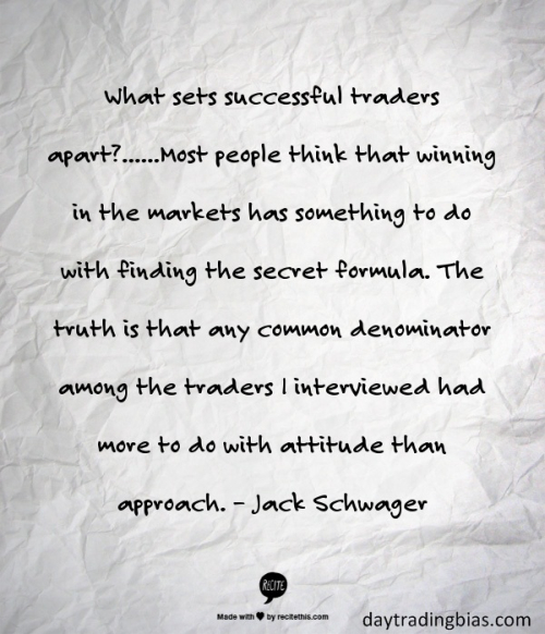 Jack Schwager on Attitude