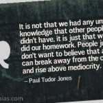 Paul Tudor Jones on Success