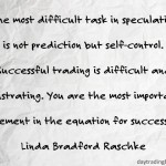 Linda Bradford Raschke on Self-Control