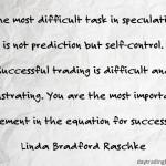 Linda Bradford Raschke on Self-Control