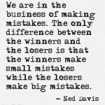 Ned Davis on Mistakes