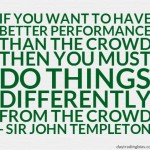 Sir John Templeton on Performance