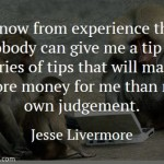 Jesse Livermore on Tips