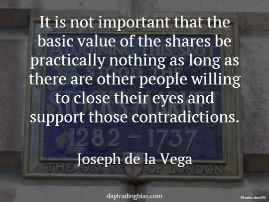 Joseph de la Vega on Share Price