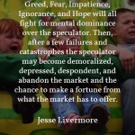Jesse Livermore on Emotional Hurdles