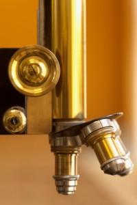 old microscope lenses