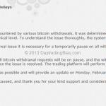 First Bitcoin Bank Run (Sort Of)