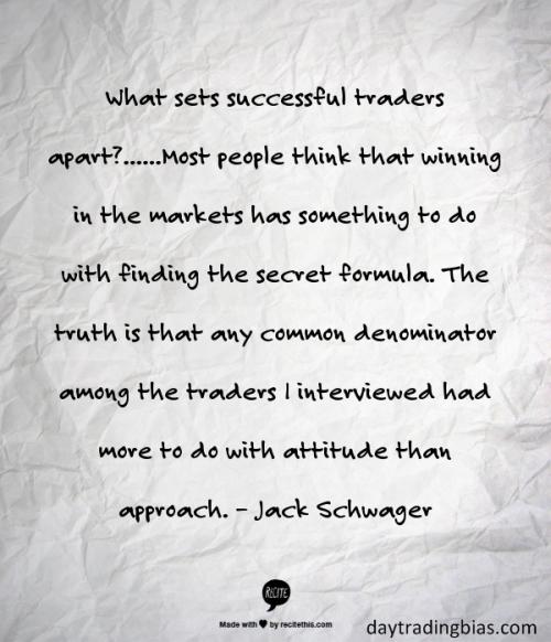 Jack Schwager on Attitude
