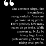 William Eckhardt on Taking Profits