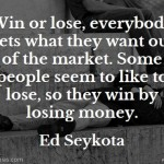 Ed Seykota on Want