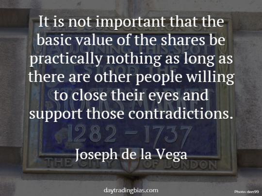Joseph de la Vega on Share Price