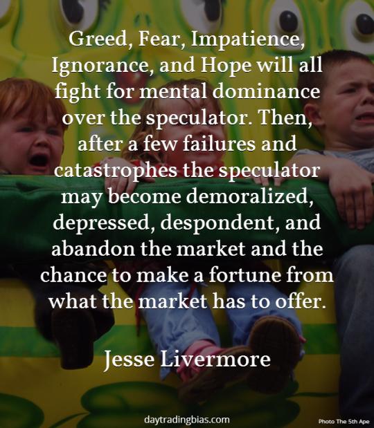 Jesse Livermore on Emotional Hurdles