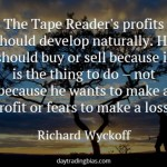 Richard Wyckoff on Profits
