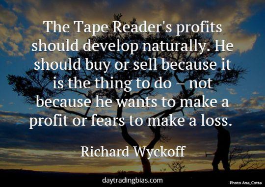Richard Wyckoff on Profits