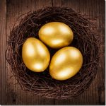 golden eggs in the nest